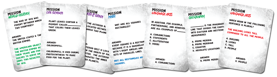 Race To Space - Ultimate Edition - Mission Cards Sample
